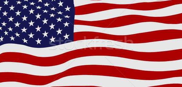 Bandeira EUA Estados Unidos américa fundo Foto stock © andreasberheide
