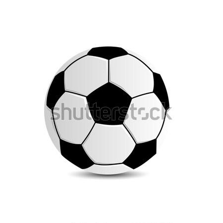 Futbol topu beyaz siyah beyaz deri dizayn dünya Stok fotoğraf © andreasberheide