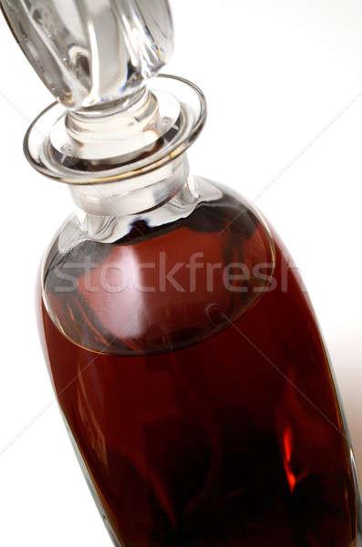 Cognac bouteille fond liquide réflexion Photo stock © andreasberheide
