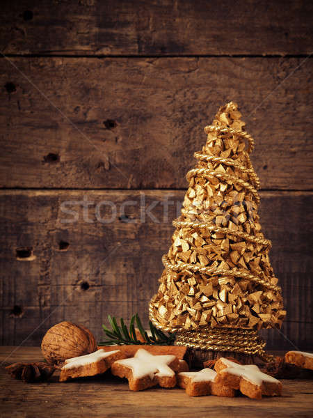 Cinnamon cookies with Christmas decoration Stock photo © andreasberheide