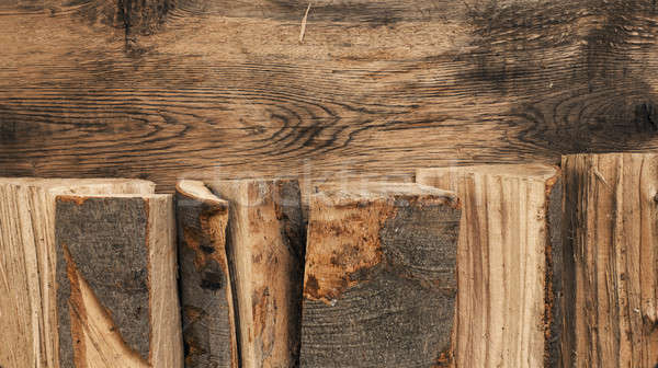 Fire wood background Stock photo © andreasberheide