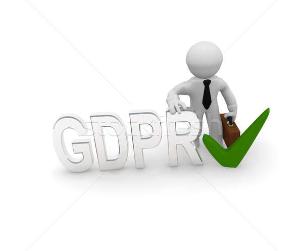 Small 3d character with GDPR Stock photo © andreasberheide