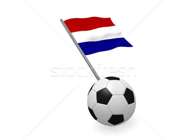 Voetbal vlag Nederland voetbal kampioenschap 3D Stockfoto © andreasberheide
