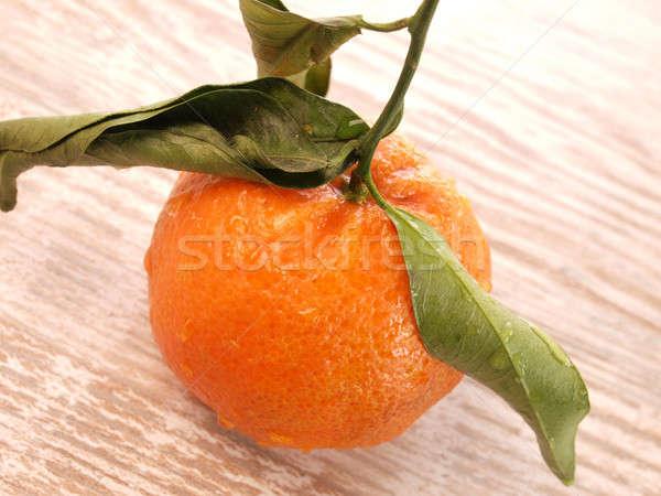 Fresco tangerina comida fruto Foto stock © andreasberheide