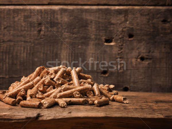 Fából készült ökológia köteg rusztikus alternatív energia Stock fotó © andreasberheide