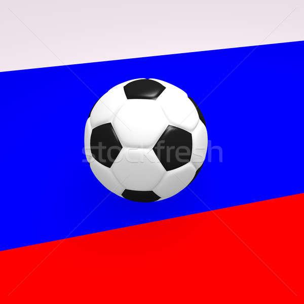 Futebol russo bandeira 3D esportes Foto stock © andreasberheide