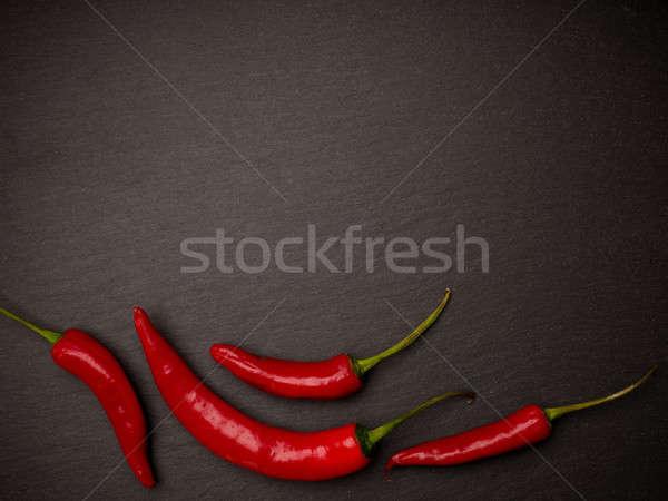 Vermelho calabresa escuro espaço texto fazenda Foto stock © andreasberheide