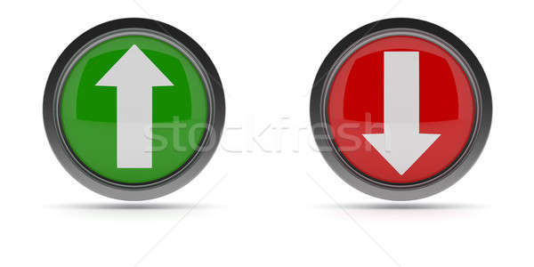 Steel buttons with up and down arrow Stock photo © andreasberheide