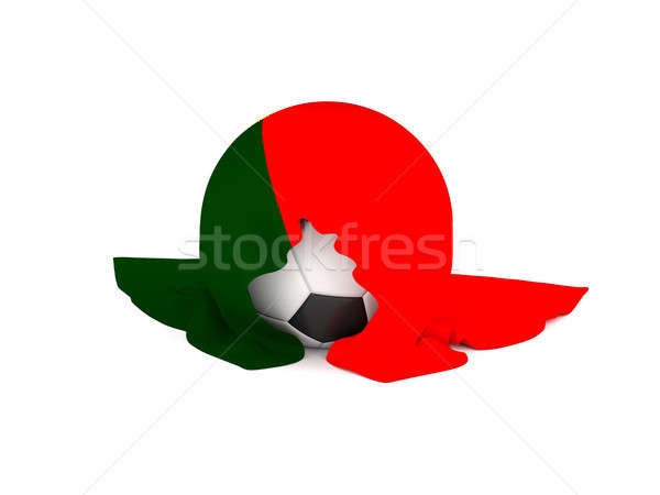 Soccer ball with the flag of Portugal Stock photo © andreasberheide