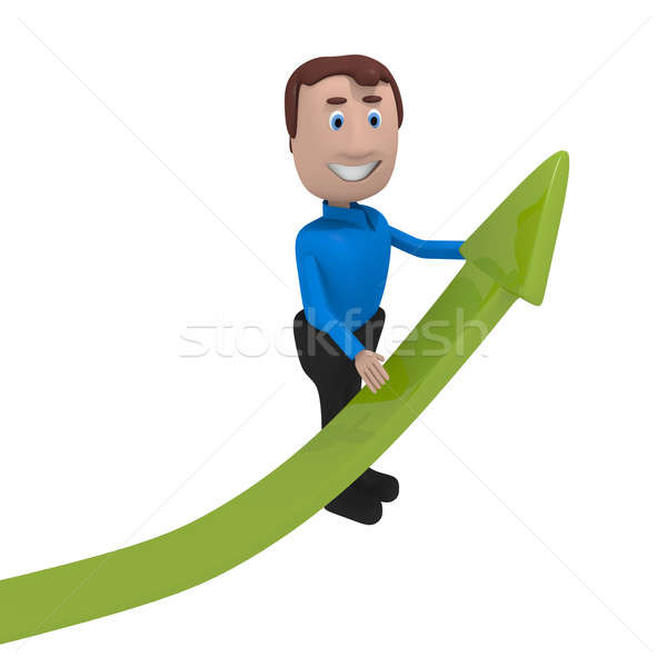 Upswing arrow Stock photo © andreasberheide