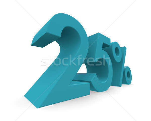 Twenty-five percent 3d rendering Stock photo © andreasberheide