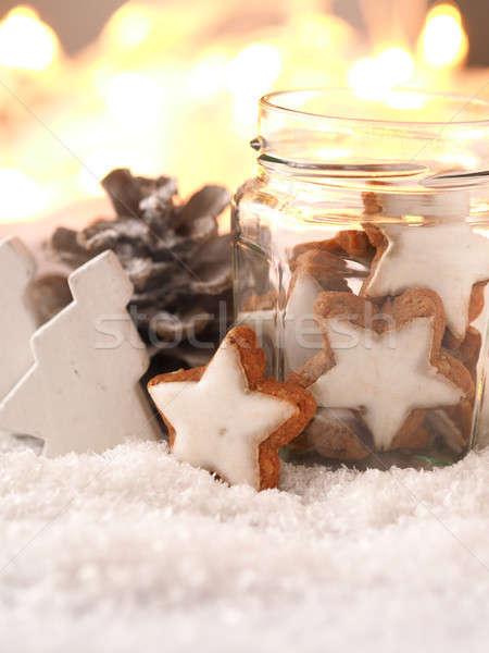 Christmas śniegu sezonowy niebo strony streszczenie Zdjęcia stock © andreasberheide