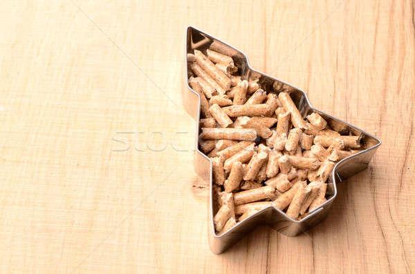 Wooden pellets Stock photo © andreasberheide