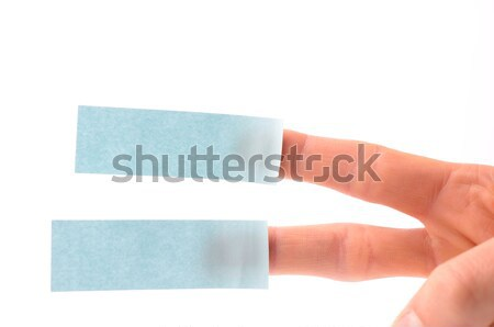 Hand with sticky notes Stock photo © andreasberheide