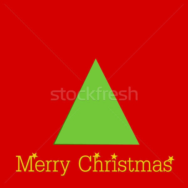 Abstract Christmas background with a tree shape Stock photo © andreasberheide