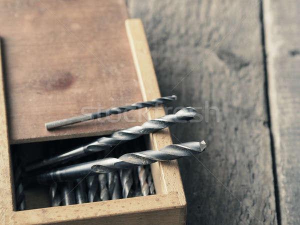 Old drills in a box Stock photo © andreasberheide