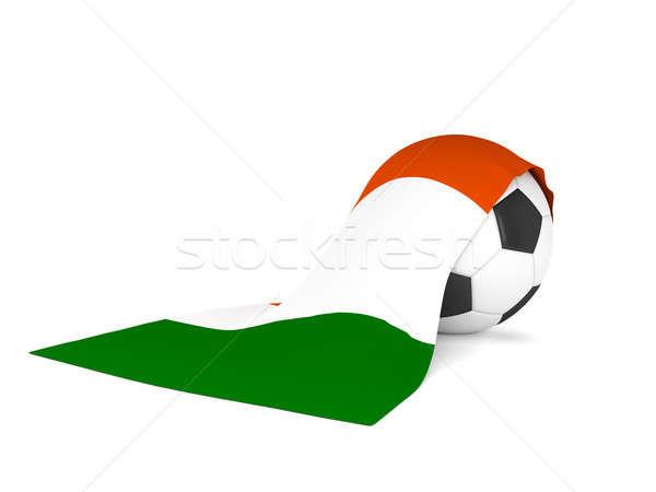 Voetbal vlag Ierland voetbal kampioenschap 3D Stockfoto © andreasberheide