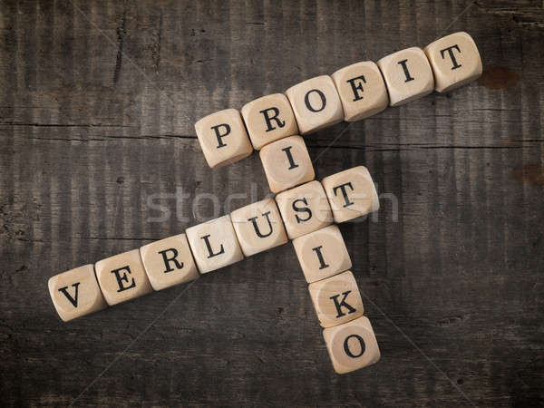 German crosswords with the words profit, risk and loss Stock photo © andreasberheide