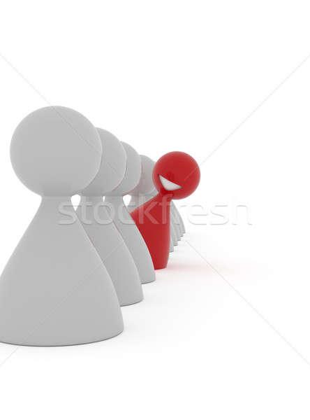Mosolyog piros karakter 3D renderelt kép különböző Stock fotó © andreasberheide