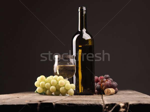 Bottle of wine on a table Stock photo © andreasberheide