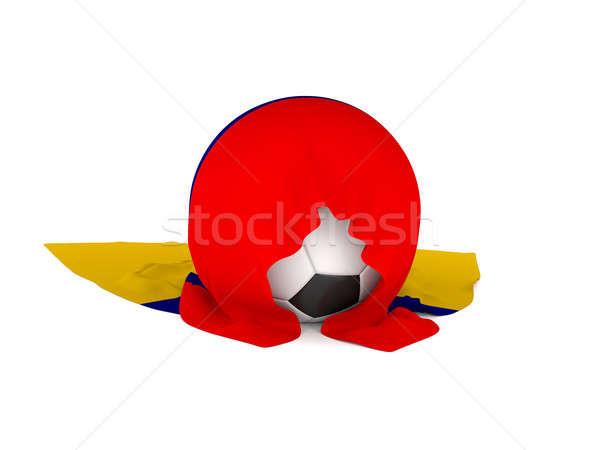 Futebol bandeira Colômbia futebol campeonato 3D Foto stock © andreasberheide