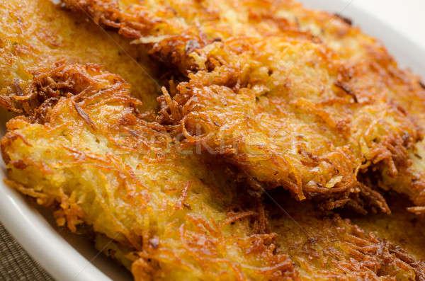Crispy potato fritters Stock photo © andreasberheide