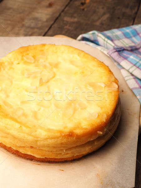 Lezzetli tatlı cheesecake mutfak ev yapımı gıda Stok fotoğraf © andreasberheide