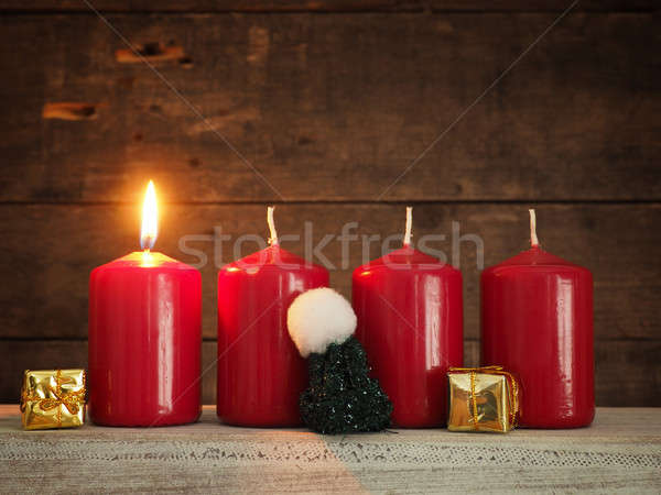 First Advent, Christmas or Advent background Stock photo © andreasberheide