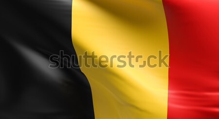 Bandiera Belgio 3D design sfondo Foto d'archivio © andreasberheide