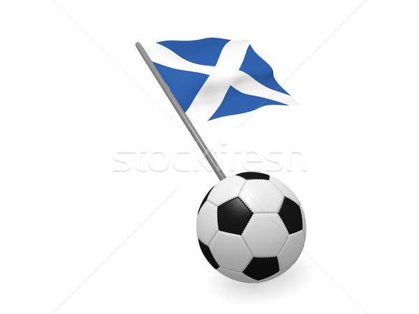 Piłka banderą Szkocji piłka nożna mistrzostwo 3D Zdjęcia stock © andreasberheide