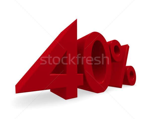 скидка 3D изображение красный процент Сток-фото © andreasberheide