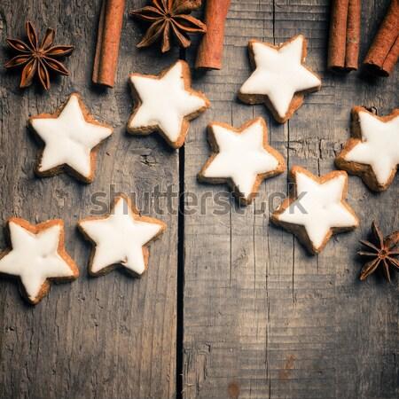 Sweet корицей звезды анис деревянный стол древесины Сток-фото © andreasberheide