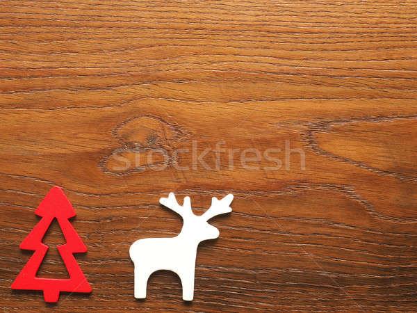 дерево северный олень рождественская елка пространстве Сток-фото © andreasberheide
