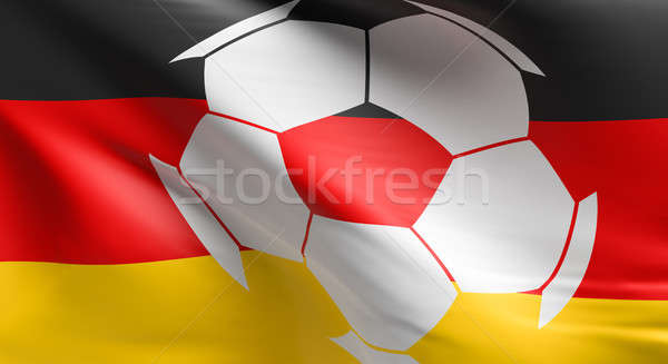 Soccer ball with the German flag Stock photo © andreasberheide