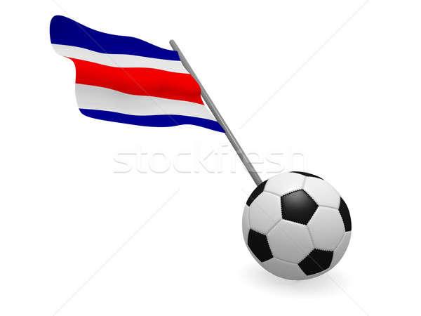 Balón de fútbol bandera Costa Rica fútbol campeonato 3D Foto stock © andreasberheide