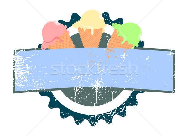 ízletes fagylalt címke háttér felirat bolt Stock fotó © andreasberheide
