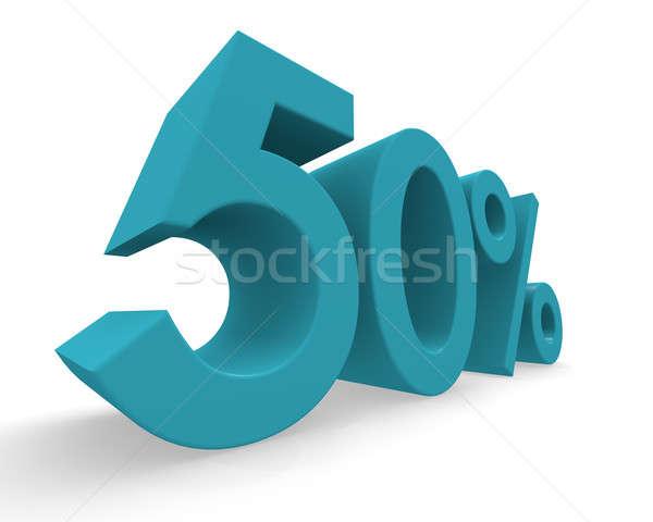 50 percent 3d rendering Stock photo © andreasberheide