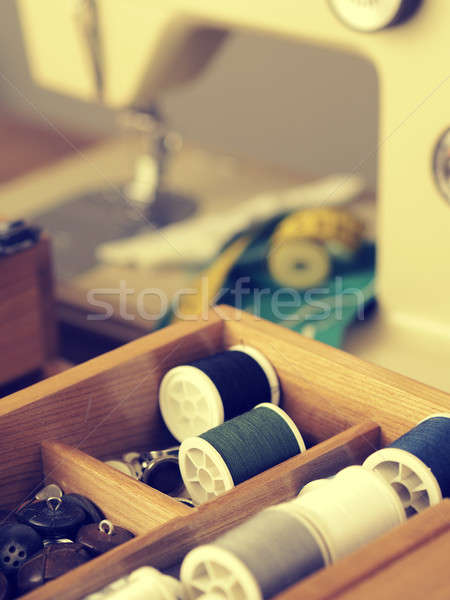 Vintage sewing utensils Stock photo © andreasberheide