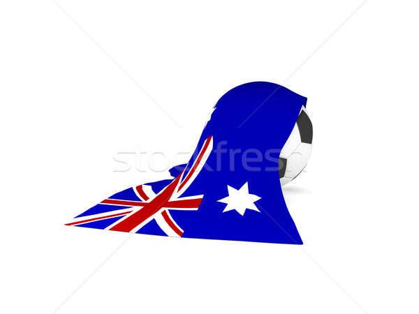 футбольным мячом флаг Австралия австралийский Футбол чемпионат Сток-фото © andreasberheide