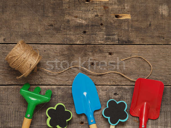 Colorful gardening tools Stock photo © andreasberheide