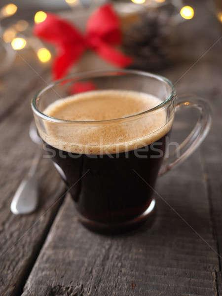 Cup caffè Natale decorazione scatola regalo Foto d'archivio © andreasberheide