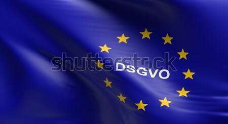 European Union flag with DSGVO Stock photo © andreasberheide