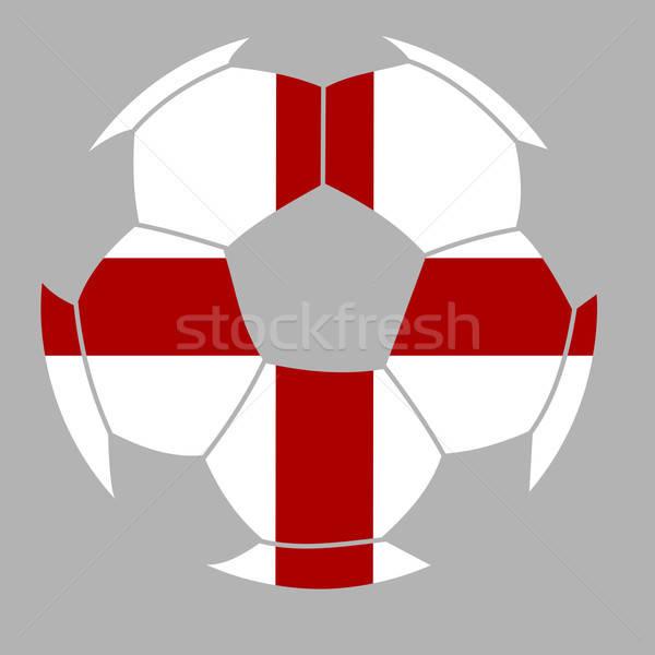 Voetbal vlag Engeland illustratie voetbal achtergrond Stockfoto © andreasberheide