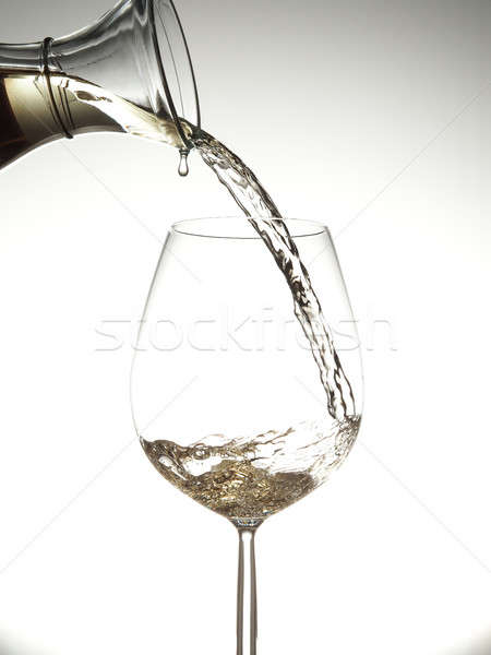 áramló fehérbor fényes étel háttér ital Stock fotó © andreasberheide