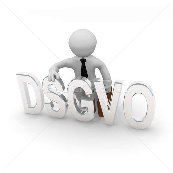 Small 3d character with DSGVO Stock photo © andreasberheide