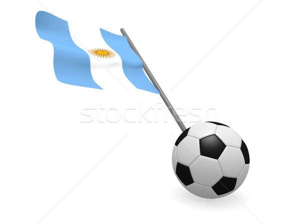 Futballabda zászló Argentína futball bajnokság 3D Stock fotó © andreasberheide
