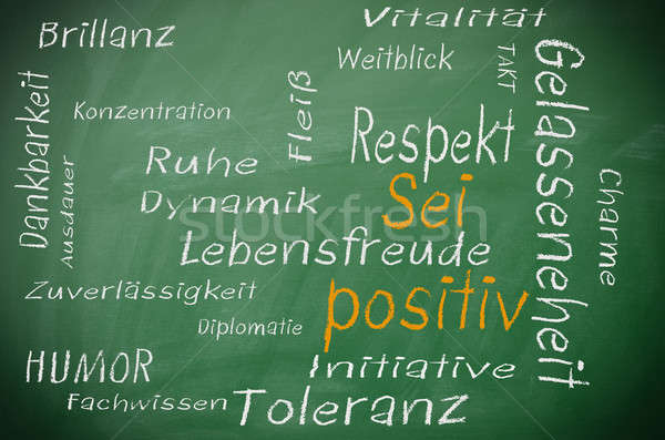 Be positive , German concept Stock photo © andreasberheide