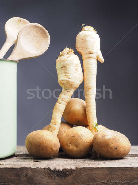 Parsley root with potatoes Stock photo © andreasberheide