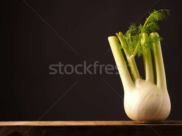Fresh organic fennel on wood Stock photo © andreasberheide
