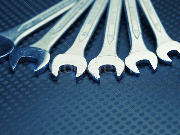 Chrome wrench assortment Stock photo © andreasberheide
